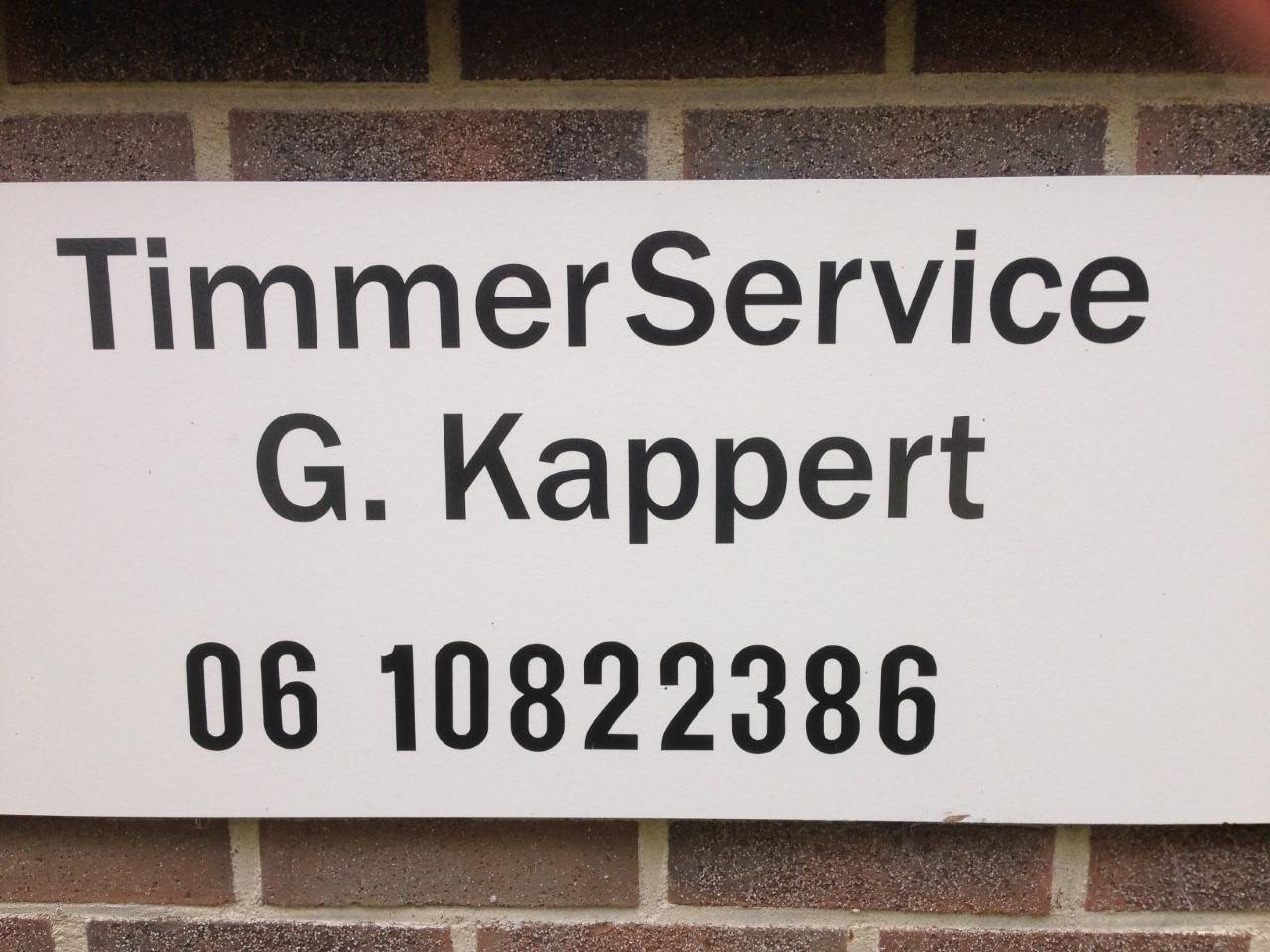 TimmerService G. Kappert